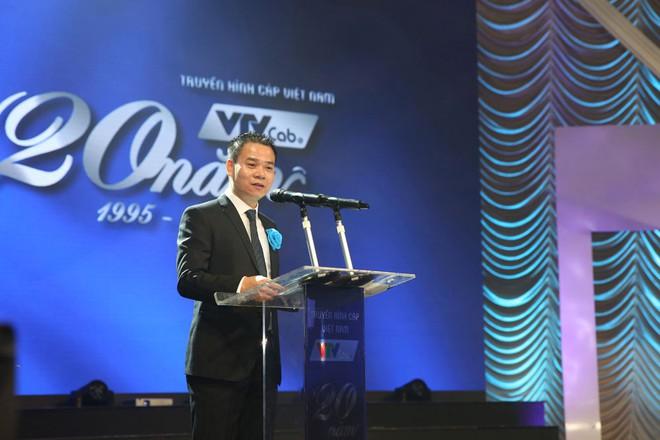 Ông Hoàng Ngọc Huấn, Tổng giám đốc VTVcab phát biểu tại lễ kỷ niệm